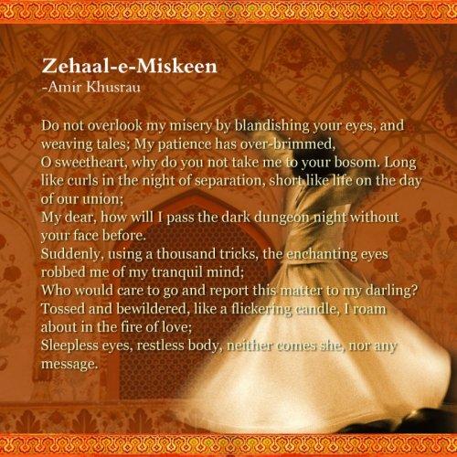 Zehaal-E-Miskeen Translation | Sufi Poetry